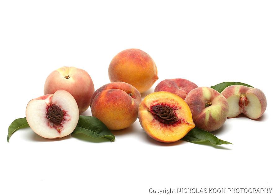 Peaches still life.