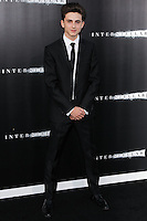 HOLLYWOOD, LOS ANGELES, CA, USA - OCTOBER 26: Timothee Chalamet arrives at the Los Angeles Premiere Of Paramount Pictures' 'Interstellar' held at the TCL Chinese Theatre on October 26, 2014 in Hollywood, Los Angeles, California, United States. (Photo by Celebrity Monitor)