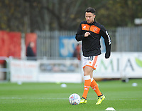 Blackpool's John O'Sullivan during the pre-match warm-up <br /> <br /> Photographer Kevin Barnes/CameraSport<br /> <br /> Emirates FA Cup First Round - Exeter City v Blackpool - Saturday 10th November 2018 - St James Park - Exeter<br />  <br /> World Copyright &copy; 2018 CameraSport. All rights reserved. 43 Linden Ave. Countesthorpe. Leicester. England. LE8 5PG - Tel: +44 (0) 116 277 4147 - admin@camerasport.com - www.camerasport.com