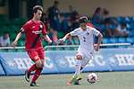 Bayer Leverkusen (in red) vs HKFC U-23 (in white) during their Main Tournament match, part of the HKFC Citi Soccer Sevens 2017 on 27 May 2017 at the Hong Kong Football Club, Hong Kong, China. Photo by Marcio Rodrigo Machado / Power Sport Images