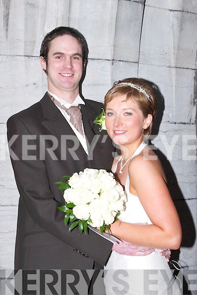 Carol, daughter of Mary and Paddy O'Connor, 17 Oakpark, Demesne, Tralee, and Sean, son of Hannah and Bernard Burke, Lauriel Court, Tralee who were married on Saturday 30th December in St John's Church, Tralee, by Fr Kieran O'Brien. Best man was John Leetch. Bridesmaid was Emma Cassidy. The reception was held at Ballyroe Heights Hotel, Tralee. The couple will reside in Tralee..