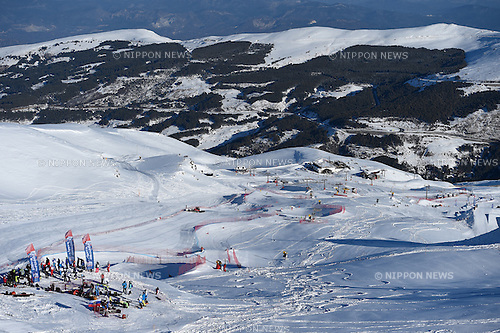 General view, <br /> FEBRUARY 13, 2015 - Freestyle Skiing : <br /> 27th Winter Universiade Granada 2015 <br /> Men's Ski cross seeding <br /> at Sierra Nevada, Granada, Spain. <br /> (Photo by AFLO SPORT) [1220]