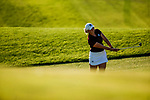 STILLWATER, OK - MAY 21: Maddie Szeryk of Texas A&M chips onto the green from the fairway on the 16th hole during the Division I Women's Golf Individual Championship held at the Karsten Creek Golf Club on May 21, 2018 in Stillwater, Oklahoma. (Photo by Shane Bevel/NCAA Photos via Getty Images)