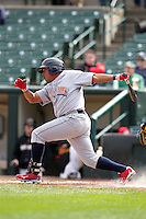 Lehigh Valley Ironpigs third baseman Ronnie Belliard #10 during the second game of a double header against the Rochester Red Wings at Frontier Field on April 14, 2011 in Rochester, New York.  Lehigh Valley defeated Rochester 5-3 in extra innings.  Photo By Mike Janes/Four Seam Images