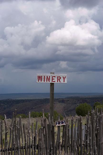 Sign at Balagna Winery, Los Alamos, New Mexico