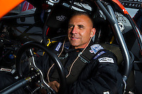 Aug 31, 2014; Clermont, IN, USA; NHRA pro stock driver Dave River during qualifying for the US Nationals at Lucas Oil Raceway. Mandatory Credit: Mark J. Rebilas-USA TODAY Sports