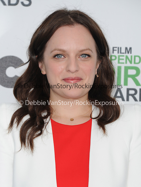 Elisabeth Moss attends The 2014 Film Independent Spirit Awards held at Santa Monica Beach in Santa Monica, California on March 01,2014                                                                               © 2014 Hollywood Press Agency