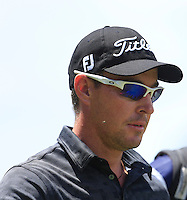 Alexandre Kaleka (FRA) on the 18th during Round 1 of the ISPS HANDA Perth International at the Lake Karrinyup Country Club on Thursday 23rd October 2014.<br /> Picture:  Thos Caffrey / www.golffile.ie