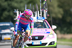 SITTARD, NETHERLANDS - AUGUST 16: Matteo Bono of Italy riding for Lampre-Merida competes during stage 5 of the Eneco Tour 2013, a 13km individual time trial from Sittard to Geleen, on August 16, 2013 in Sittard, Netherlands. (Photo by Dirk Markgraf/www.265-images.com)