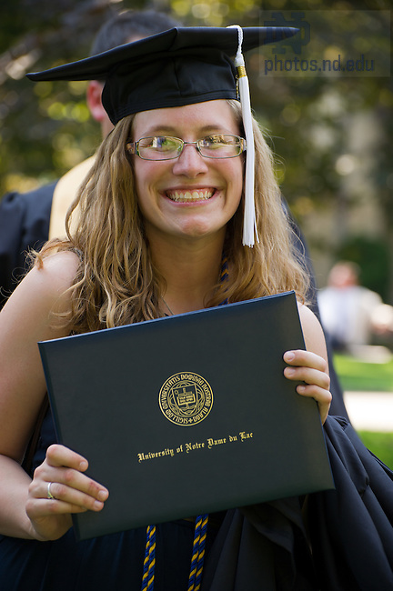 May 20, 2012; Graduates pose for photos, Commencement 2012...Photo by Matt Cashore/University of Notre Dame