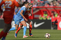 Bridgeview, IL - Saturday May 06, 2017: Christen Press, Morgan Brian during a regular season National Women's Soccer League (NWSL) match between the Chicago Red Stars and the Houston Dash at Toyota Park. The Red Stars won 2-0.