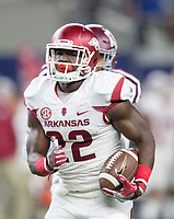 NWA Democrat-Gazette/JASON IVESTER<br /> Arkansas sophomore running back Rawleigh Williams carries the ball during the second quarter against Texas A&M on Saturday, Sept. 24, 2016, at AT&T Stadium in Arlington, Texas.