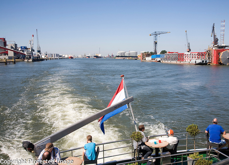 Spido boat trip on the River Maas through the Port of Rotterdam, Netherlands