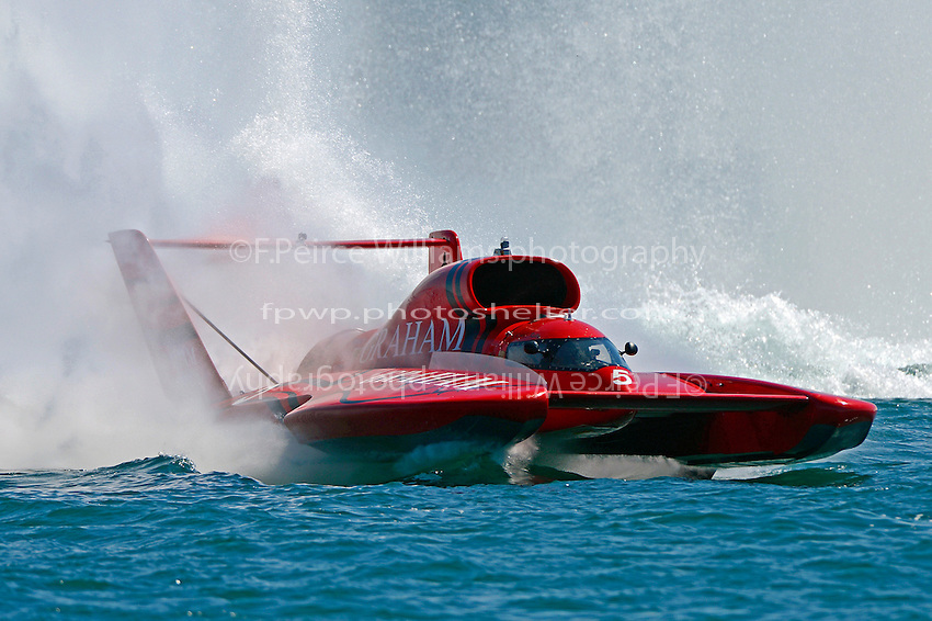 "J. Michael Kelly, U-5 ""Graham Trucking I""  (Unlimited Hydroplane)"
