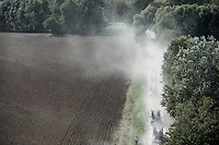 dusty race conditions in the back<br /> <br /> Antwerp Port Epic 2018 (formerly &quot;Schaal Sels&quot;)<br /> One Day Race: Antwerp &gt; Antwerp (207km of which 32km are cobbles &amp; 30km is gravel/off-road!)