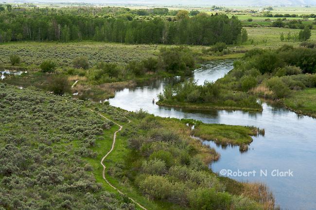 Silver Creek as it flows through the Silver Creek Preserve