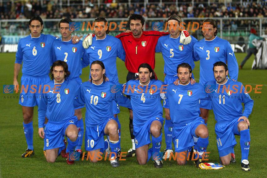 Palermo 18/2/2004 Amichevole - Friendly Match <br /> Italy Czech Republic - Italia Repubblica Ceca 2-2 <br /> Italy<br /> Photo Andrea Staccioli Insidefoto