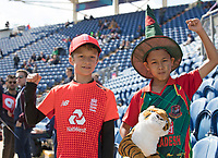 Young England and Bangladesh fan together before the game England vs Bangladesh, ICC World Cup Cricket at Sophia Gardens Cardiff on 8th June 2019