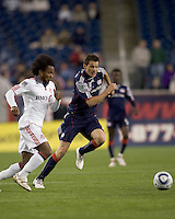 New England Revolution midfielder Marko Perovic (29) accelerates for the ball. The New England Revolution defeated Toronto FC, 4-1, at Gillette Stadium on April 10, 2010.