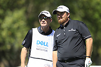 Shane Lowry (IRL) and caddy Dermot Byrne on the 8th during the 2nd round at the WGC Dell Technologies Matchplay championship, Austin Country Club, Austin, Texas, USA. 23/03/2017.<br /> Picture: Golffile | Fran Caffrey<br /> <br /> <br /> All photo usage must carry mandatory copyright credit (&copy; Golffile | Fran Caffrey)
