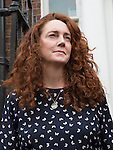 Pic shows: Rebekah Brooks and Charlie Brooks on steps of their home tonight after making statement<br /> emotions<br /> <br /> <br /> Pic by Gavin Rodgers/Pixel 8000 Ltd