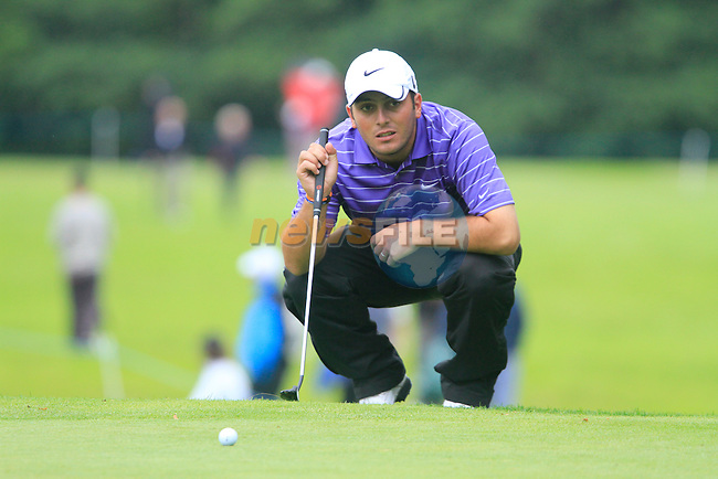 Francesco Molinari lines up his putt on the 14th green during Day 2 of the 3 Irish Open at the Killarney Golf & Fishing Club, 30th July 2010..(Picture Eoin Clarke/www.golffile.ie)
