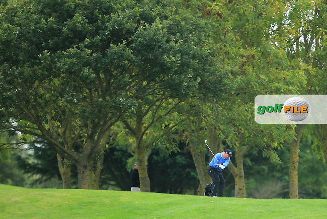 Brendan McGovern (Headfort G.C) on the 1st during Round 3 of The Cassidy Golf 103rd Irish PGA Championship in Roganstown Golf Club on Saturday 12th October 2013.<br /> Picture:  Thos Caffrey / www.golffile.ie