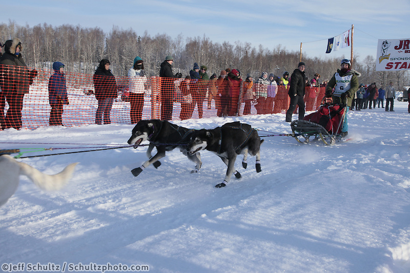 Saturday February 25, 2012   at Knik Lake during the Junior Iditarod start.  Aiyana Ferraro