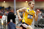 NAPERVILLE, IL - MARCH 11:  Ethan Valentine of Calvin College runs in the 400 meter dash during the Division III Men's and Women's Indoor Track and Field Championship held at the Res/Rec Center on the North Central College campus on March 11, 2017 in Naperville, Illinois. (Photo by Steve Woltmann/NCAA Photos via Getty Images)