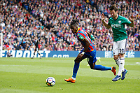Wilfried Zaha of Crystal Palace during the EPL - Premier League match between Crystal Palace and West Bromwich Albion at Selhurst Park, London, England on 13 May 2018. Photo by Carlton Myrie / PRiME Media Images.