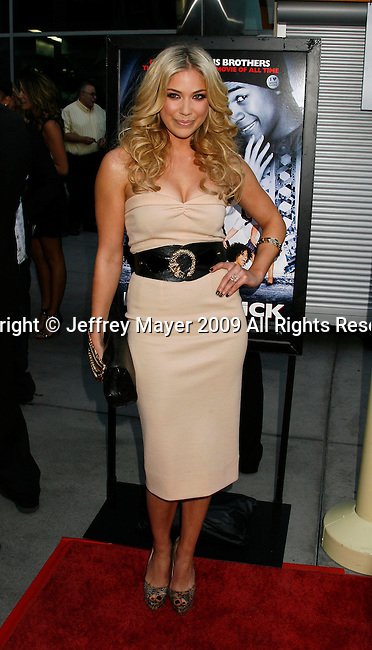 """HOLLYWOOD, CA. - May 20: Shoshana Bush arrives at the Los Angeles Premiere of """"Dance Flick"""" at the ArcLight Theatre on May 20, 2009 in Hollywood, California."""