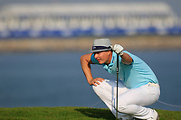 Tapio Pulkkanen (FIN) during the first round of the NBO Open played at Al Mouj Golf, Muscat, Sultanate of Oman. <br /> 15/02/2018.<br /> Picture: Golffile | Phil Inglis<br /> <br /> <br /> All photo usage must carry mandatory copyright credit (&copy; Golffile | Phil Inglis)