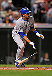 12 September 2008: Kansas City Royals' shortstop Tony Pena Jr. in action against the Cleveland Indians at Progressive Field in Cleveland, Ohio. The Indians defeated the Royals 12-5 in the first game of their 4-game series...Mandatory Photo Credit: Ed Wolfstein Photo