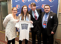 Jami Kranich, Tom Durkin, Cat Whitehill. The NWSL draft was held at the Pennsylvania Convention Center in Philadelphia, PA, on January 17, 2014.