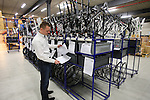 Jochen Bessemans, Ridley PR & Marketing Manager shows me bikes ready for final assembly in the factory in Paal-Beringen, Belgium, 21st March 2013 (Photo by Eoin Clarke 2013)