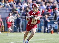 Washington, DC - March 31, 2018: Denver Pioneers Colton Jackson (10) looks to pass the ball during game between Denver and Georgetown at  Cooper Field in Washington, DC.   (Photo by Elliott Brown/Media Images International)