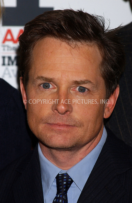 """WWW.ACEPIXS.COM . . . . . ....NEW YORK, DECEMBER 5, 2005....Michael J. Fox arriving to the """"AARP The Magazine"""" 2005 Impact Awards.. ..Please byline: KRISTIN CALLAHAN - ACEPIXS.COM.. . . . . . ..Ace Pictures, Inc:  ..Philip Vaughan (212) 243-8787 or (646) 679 0430..e-mail: info@acepixs.com..web: http://www.acepixs.com"""