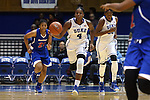 19 December 2014: Duke's Sierra Calhoun (4). The Duke University Blue Devils hosted the University of Massachusetts Lowell River Hawks at Cameron Indoor Stadium in Durham, North Carolina in a 2014-15 NCAA Division I Women's Basketball game. Duke won the game 95-48.