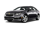 Stock pictures of low aggressive front three quarter view of 2016 Chevrolet Cruze-Limited 2LT-Auto 4 Door Sedan Low Aggressive