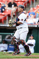 Buffalo Bisons catcher Raul Chavez #19 during a game against the Charlotte Knights at Dunn Tire Park on May 22, 2011 in Buffalo, New York.  Buffalo defeated Charlotte by the score of 7-5.  Photo By Mike Janes/Four Seam Images
