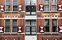 Nederland  Amsterdam - 2017.   Pand in de binnenstad.  H.Vettewinkel en Zonen.  Foto Berlinda van Dam / Hollandse Hoogte