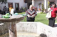 Paquita la del Barrio visito el rancho y centro Fox donde tuvo una comida con el ex presidente de Mexico Vicente Fox y su esposa Marta Sahagún durante su visita a la ciudad de Leon , Guanajuato el 15 de Enero del 2014..<br /> (*Foto:TiradorTercero/NortePhoto*)