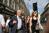 Pedestrians in Kings Cross, London.