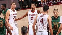 STANFORD, CA - November 6, 2014: Stanford Cardinal vs Cal Poly Pomona Broncos at Maples Pavilion.  The Cardinal beat the Broncos 79-76.