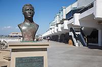 George Freeth Memorial Bronze Statue at the Redondo Beach Pier
