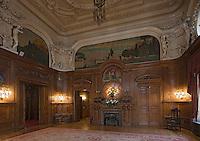 Europe/Pologne/Lodz: Le Palais d'Israël Poznanski qui contient le Musée d'Histoire de la Ville de Lodz - la salle à manger néobaroque