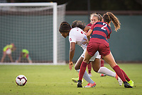 STANFORD, CA - August 30, 2019: Madison Haley at Maloney Field at Laird Q. Cagan Stadium. The Cardinal defeated the University of Pennsylvania Quakers 5-1.