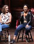 Hope Endrenyi and Erin Clemons during the an eduHAM Q & A panel with the cast of Broadway's 'Hamilton' at The Richard Rodgers Theatre on May 23, 2018 in New York City.