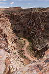 The entrance to the Black Box, the deep, narrow gorge of the San Rafael River, in the Mexican Mountain Wilderness Study Area of the San Rafael Swell in Utah.  The Box gets much, much narrower as it goes downriver.