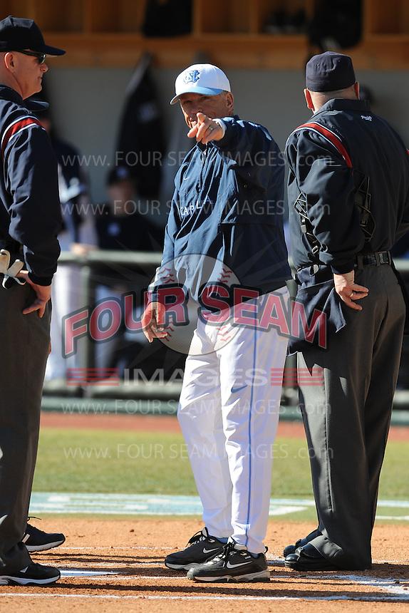 Mike Fox  (Head Coach) North Carolina Tar Heels (Photo by Tony Farlow/Four Seam Images)